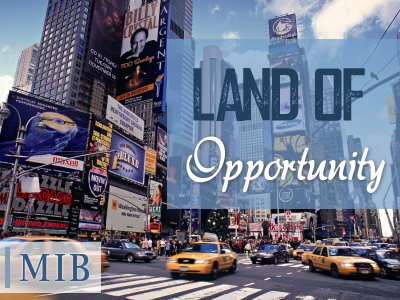"""What better place to come than the USA, the """"Land of Opportunity,"""" to learn English?"""