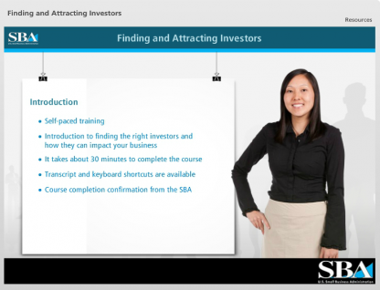 Finding and Attracting Investors – Small Business Learning Center
