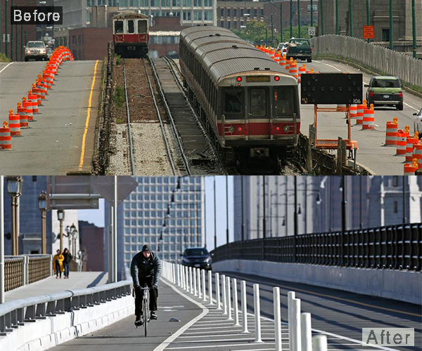 Here's the Boston version of the '10 Years Challenge'
